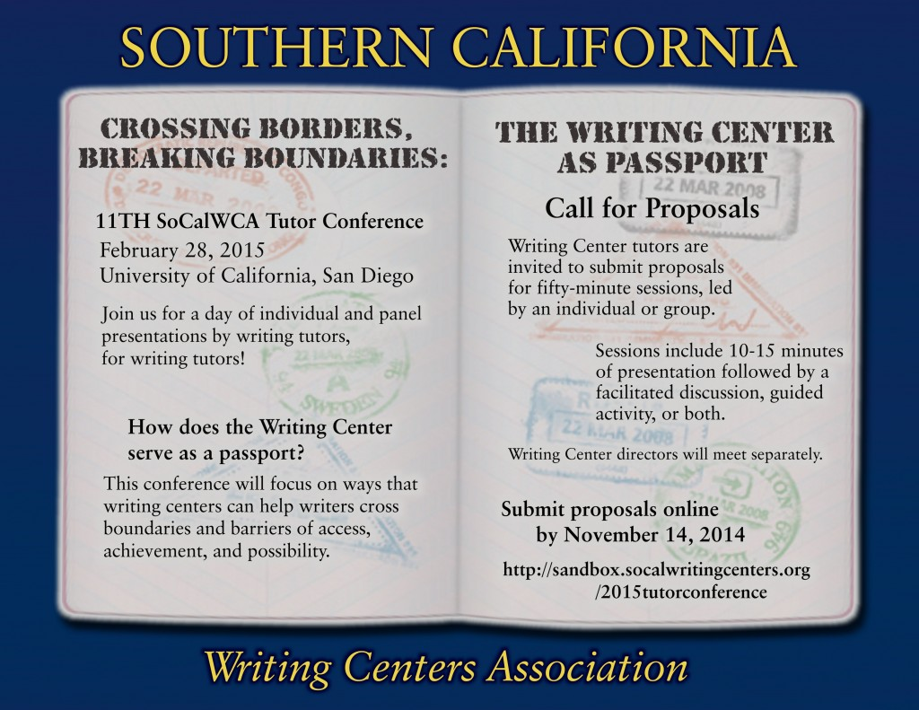 SoCal WCA Tutor Con 2015 CFP